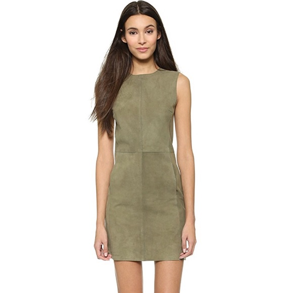 c073eebaa0e Vince Dresses | Sleeveless Suede Leather Shift Dress | Poshmark